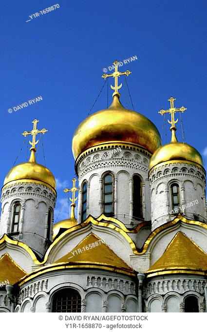 Russia, Moscow, Kremlin, Annunciation Cathedral 1484-89