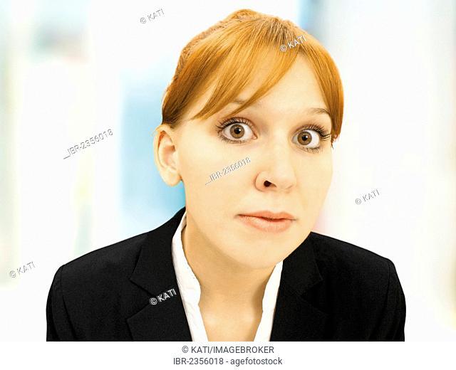 Portrait of a serious businesswoman