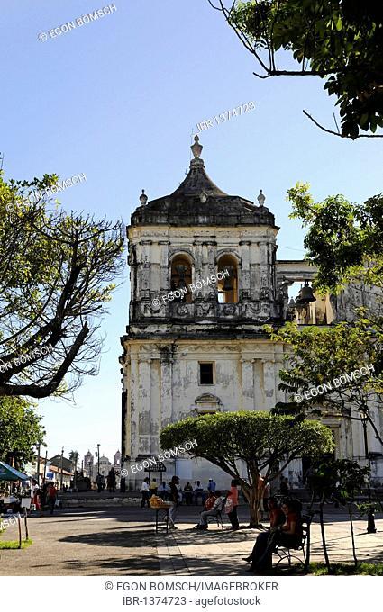 Detail, exterior, Catedral de la Asuncion, 1860, Leon, Nicaragua, Central America