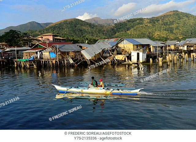 Traditional boat in Coron island, Philippines,South East Asia