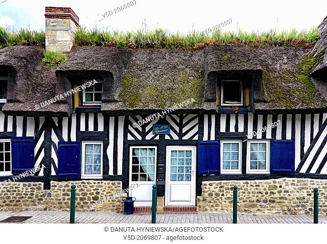 Characteristic, traditional architecture in Normandy, France