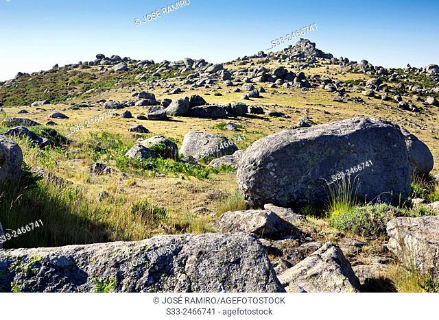 Caballera cliff in the Sierra de Gredos. Avila. Castilla Leon. Spain. Europe