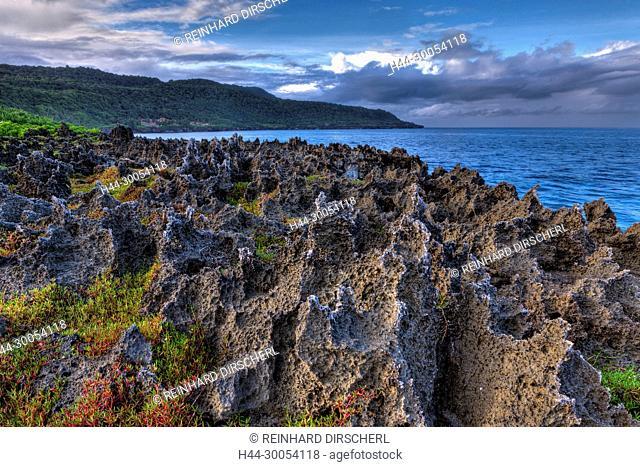 Rock Formations near Lily Beach, Christmas Island, Australia