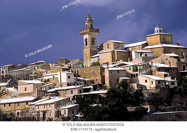 Parish Church of Sant Bartomeu, Valldemossa, Serra de Tramuntana, Majorca, Balearic Islands, Spain