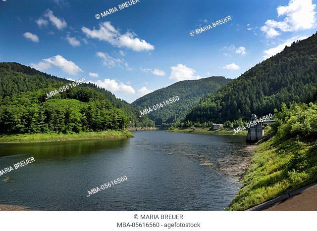 Water tank Wehra, Wehra dam, Wehratal, Black Forest, Baden-Württemberg, Germany, Europe
