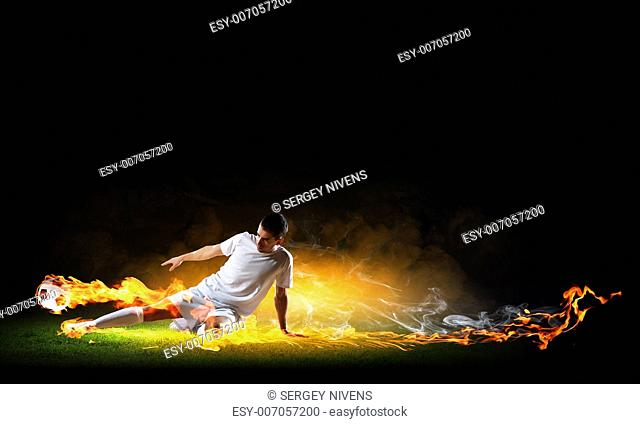 Image of football player in white shirt