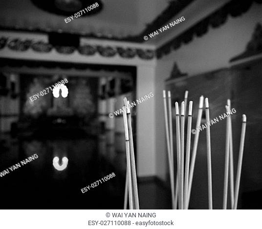 Group of joss stick at Buddhist temple