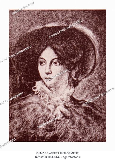 Portrait of George Sand (1804-1876) a French novelist and memoirist. Dated 19th Century