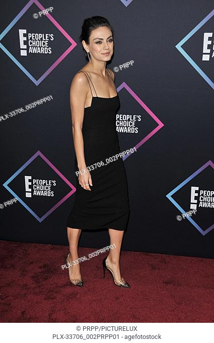 Mila Kunis at E! People's Choice Awards held at the Barker Hangar in Santa Monica, CA on Sunday, November 11, 2018. Photo by PRPP / PictureLux