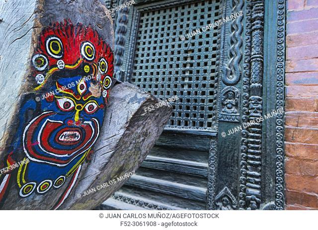 Kumari Ghar, Durbar Square, Kathmandu City, Kathmandu Valley, Nepal, Asia