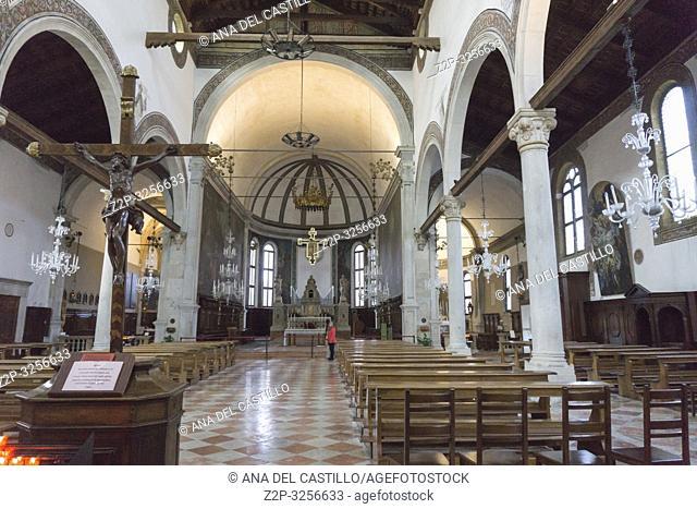 Murano island Venice, Veneto, Italy: . St. Pietro Martire Church interior