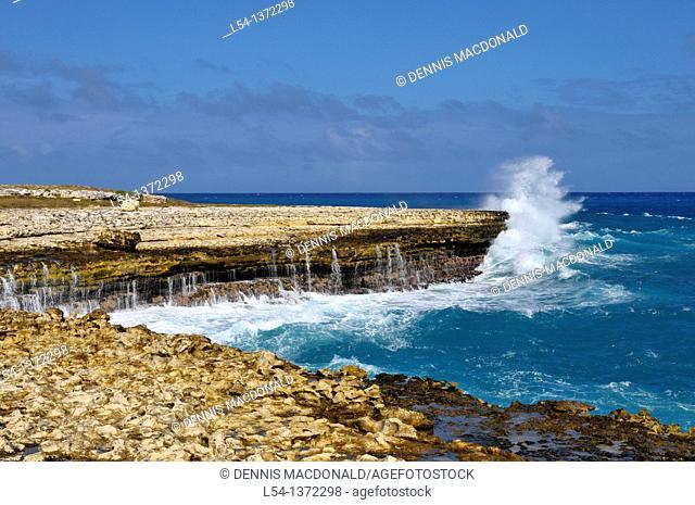 Pounding Surf Waves St  John's Antigua Caribbean Cruise NCL