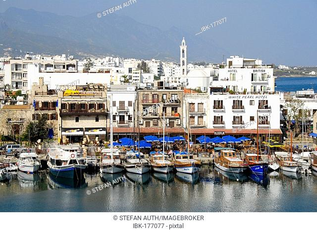 Boats in the port of Girne Kyrenia North Cyprus