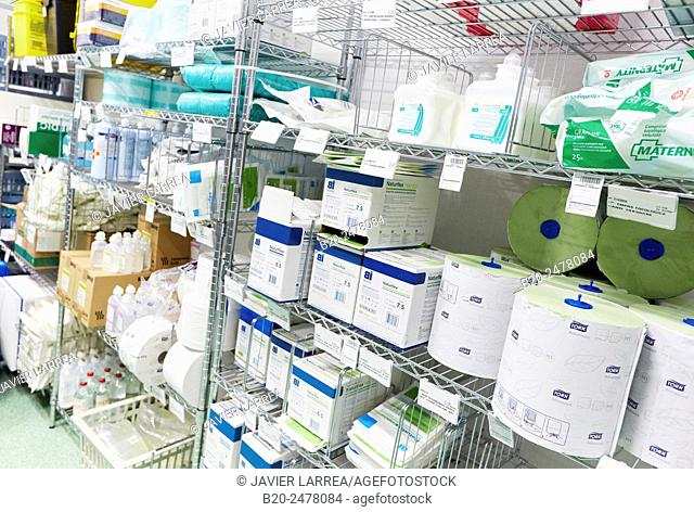 Hospital supplies, Hospital Donostia, San Sebastian, Basque Country, Spain