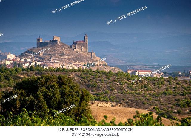 San Vicente de la Sonsierra views from Labastida vineyard  La Rioja  Spain
