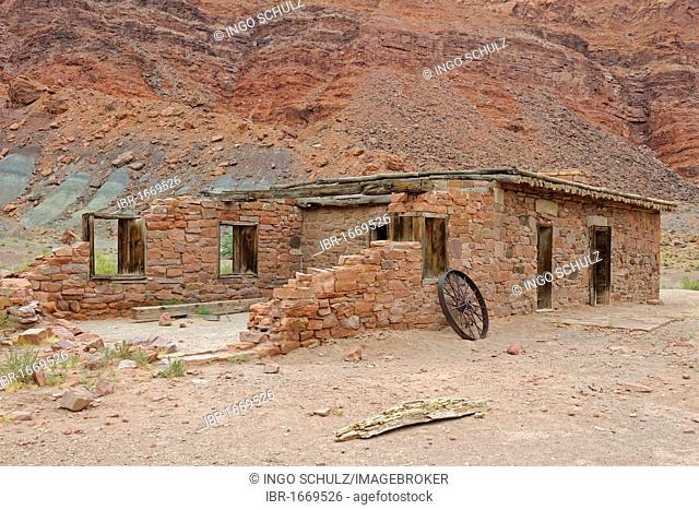 Lee's Fort from 1880, Lee's Ferry, Arizona, USA