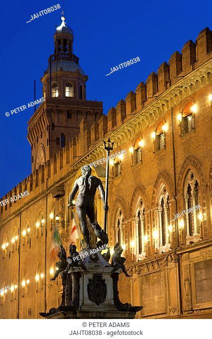 Statue of Neptune, Piazza Maggiore, Bologna, Italy