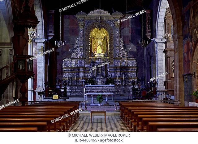 Chancel with the main altar, hammered silver, church and former monastery Iglesia de Santo Domingo de Guzmán, San Cristóbal de La Laguna, Tenerife
