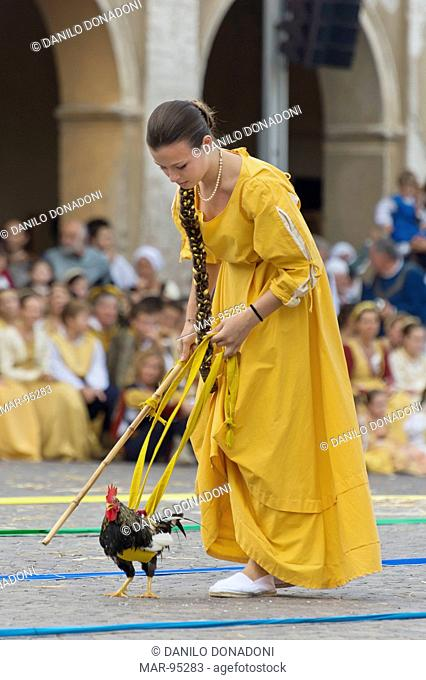 palio and reinessance feast, isola dovarese, italy