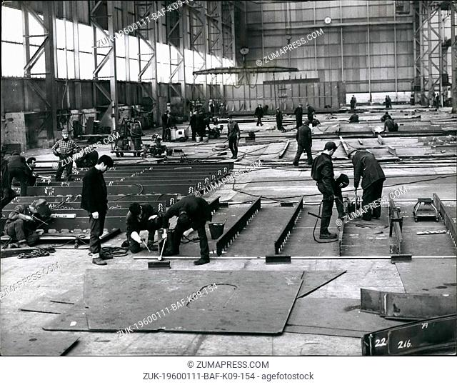 1968 - A new Giant 'Cunarder' takes shape: The birth of a new liner is a complex and long drawn out process, involving thousands of workers and engaged on a...