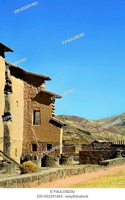 Raqchi - Inca archaeological site. San Pedro, Peru