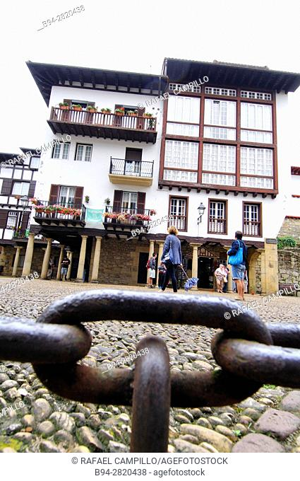 Hondarribia Spanish: Fuenterrabía, town situated on the west shore of Bidasoa river's mouth, in Gipuzkoa, in Basque Country, Spain