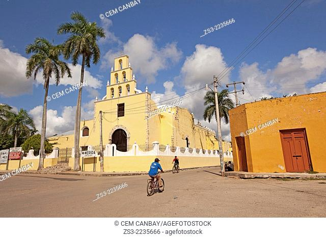 Franciscan church in Chumayel town, Yucatan Province, Mexico, North America