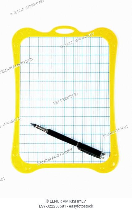 Writing board isolated on the white background
