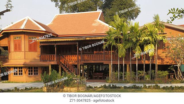 Thailand; Lampang, teak wood house, traditional architecture,