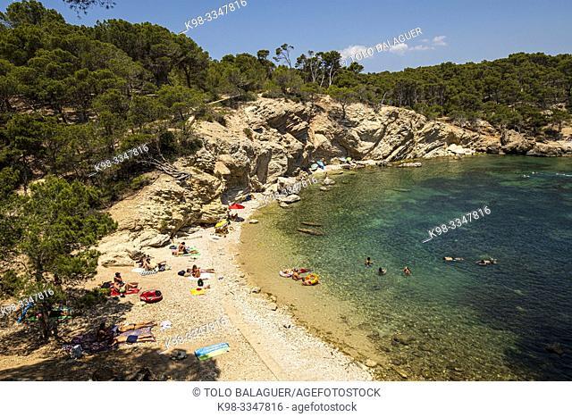 Caló d'en Monjo, Calviá, Mallorca, Balearic Islands, Spain