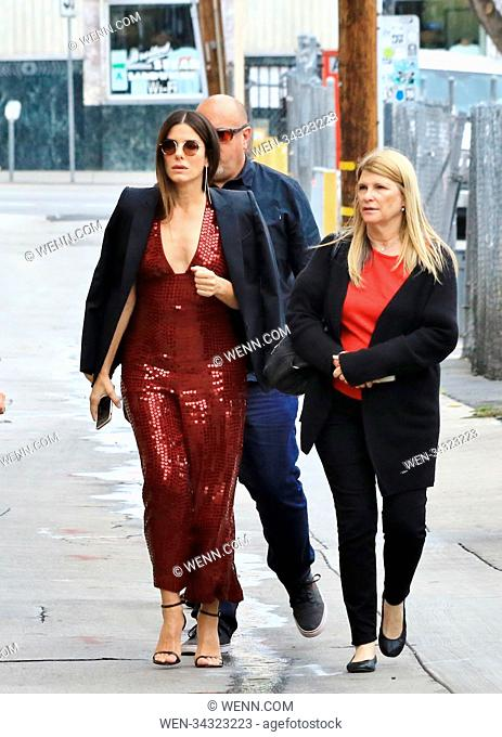 Sandra Bullock arrives for appearance on Jimmy Kimmel Live! Featuring: Sandra Bullock Where: Hollywood, California, United States When: 30 May 2018 Credit: WENN