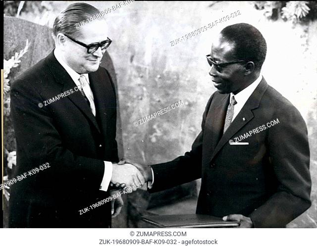 Sep. 09, 1968 - Riots at the Frankfurt Book Pair At the conferment of the peace award of the German Book Trade to Leopold Senghor, States' President of Senegal