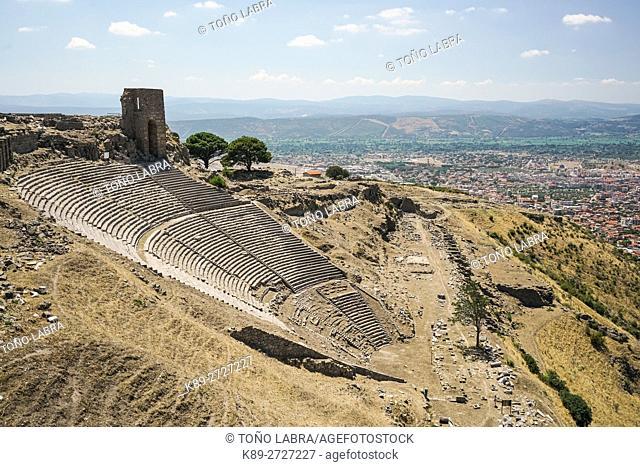 Pergamon Amphytheater. Ancient Greece. Asia Minor. Turkey