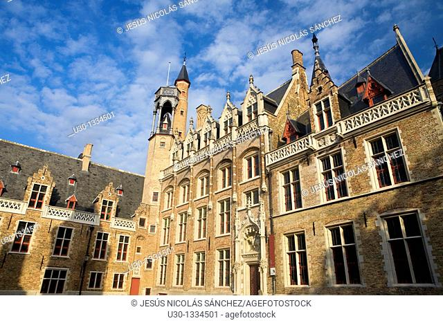 Gruuthuse Museum, in the medieval town of Brugge, listed World Heritage Site by UNESCO  Flanders  Belgium