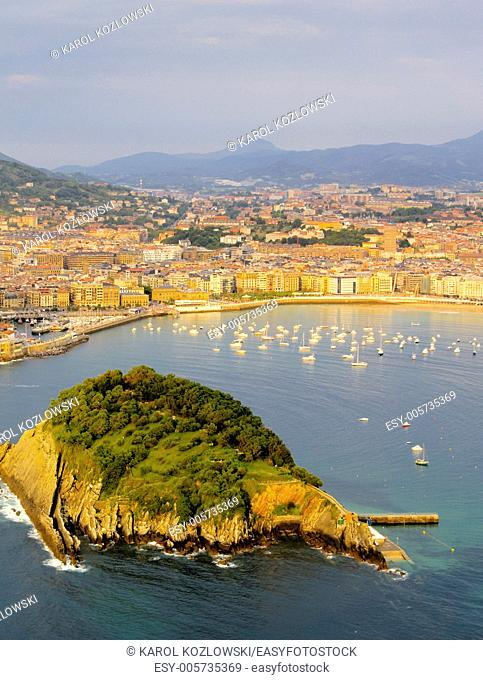 Donostia - San Sebastian - view from Mont Igueldo, Basque Country, Spain