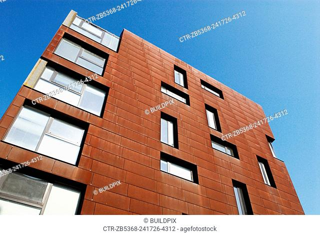 Gazzano House, a commercial and residential block clad in Cor-Ten, the steel alloy which includes copper so that it rusts