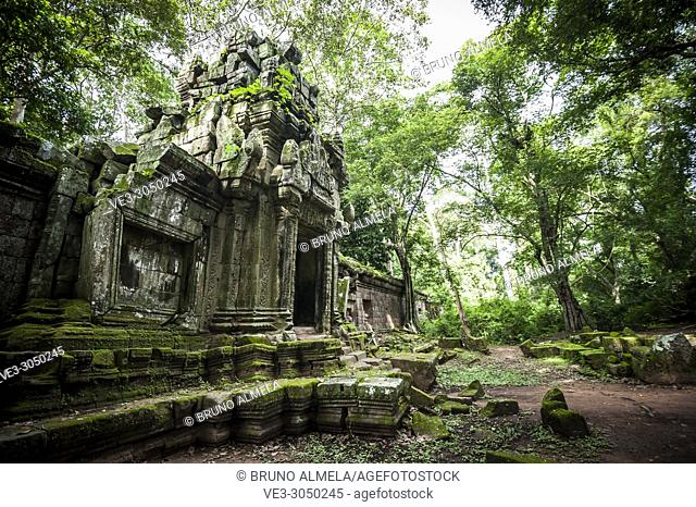 One of the gates of Angkor Thom complex (Siem Reap Province, Cambodia)