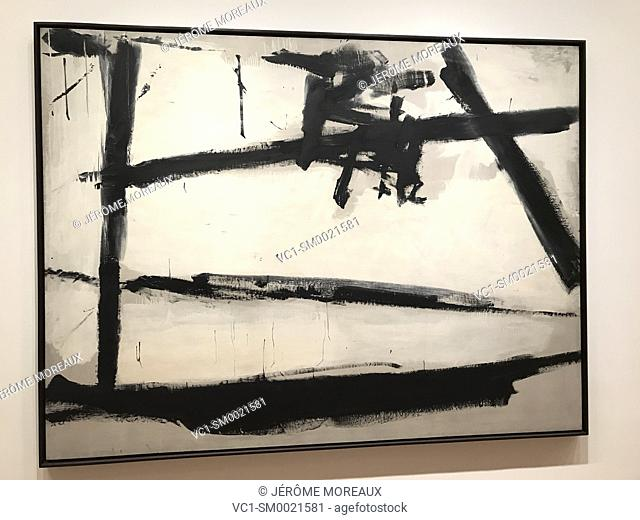Painting number 2, Franz Kline, 1954, Moma, Museum of Modern Art, New York city, Oil on canvas