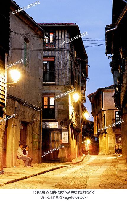 Pedestrian street of La Alberca, Salamanca, Spain