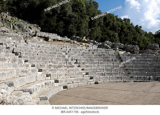 Roman theatre, amphitheatre, ancient city of Butrint, Vlora, Albania