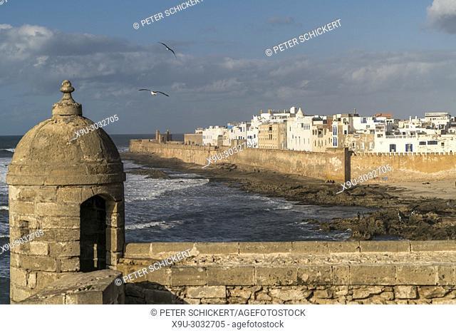 fortress Scala du Port and the medina in Essaouira, Kingdom of Morocco, Africa