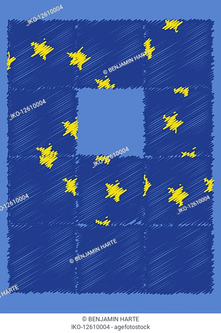 Jumbled European Union flag puzzle