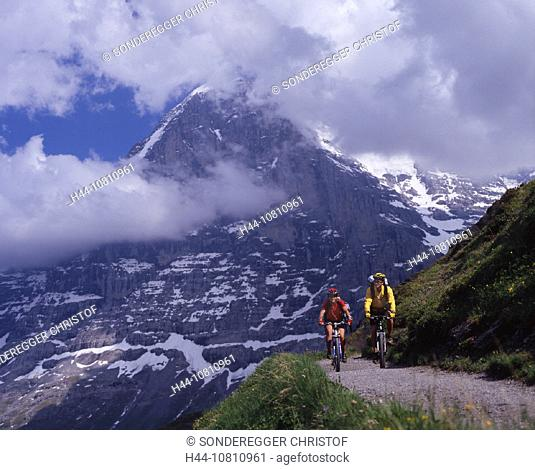 Alps, Canton Bern, Bernese Oberland, bicycle, bike, biking, bikes, canton, couple, Eiger, Eiger north face, Grindelw