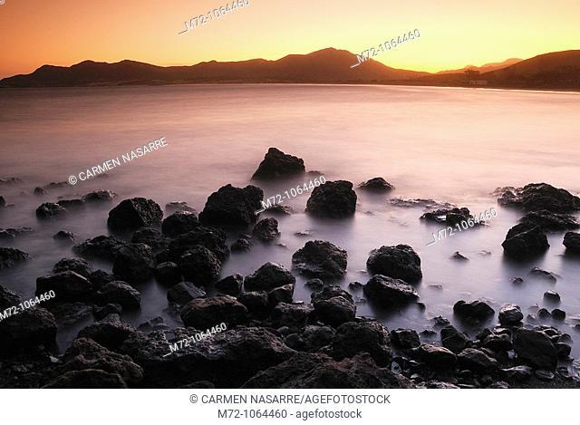 Genoveses Cove, Natural Park of Cabo de Gata, Almería, Andalucía, Spain