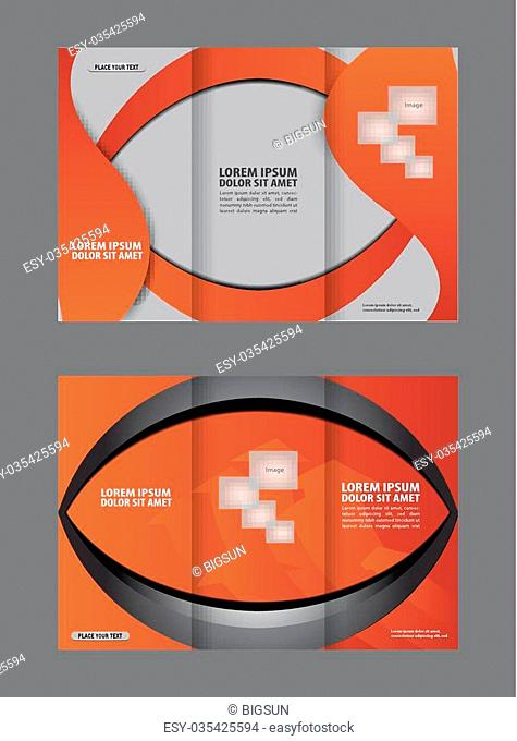 brochure design template abstract waves curves set