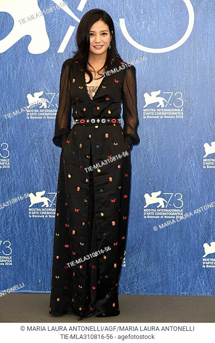 The actress Zhao Wei during the photocall at 73rd Venice Film Festival, Venice, ITALY-31-08-2016