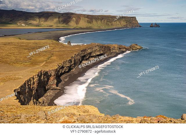 Vik, Southern Iceland. View from the top of Dyrhólaey
