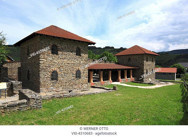 D-Mehring (Mosel), Moselle, Verbandsgemeinde Schweich, Roemische Weinstrasse, Roman wine route, Rhineland-Palatinate, Villa Rustica, Roman villa, country house