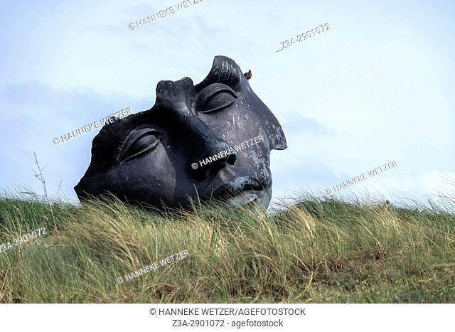 Sculpture at the beach of Scheveningen, The Hague, The Netherlands, Europe