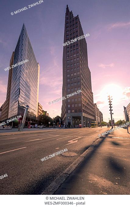 Germany, Berlin, Potsdam Square, skyscrapers